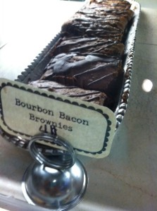 Bourbon Bacon Brownie at Foxy Loxy Print Gallery & Cafe