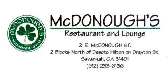 McDonough's is a real bar
