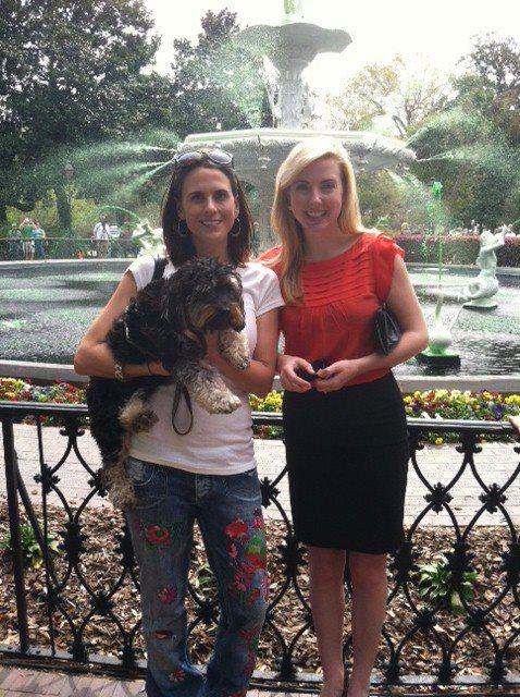 Tondee at the greening of the Savannah fountain