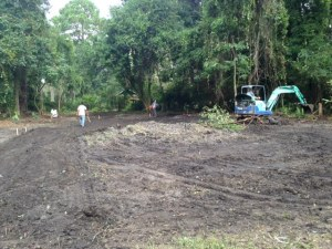 Clearing the lot on Isle of Hope -- the lot is just past Camp Villa Marie just past Waite Drive on the left.